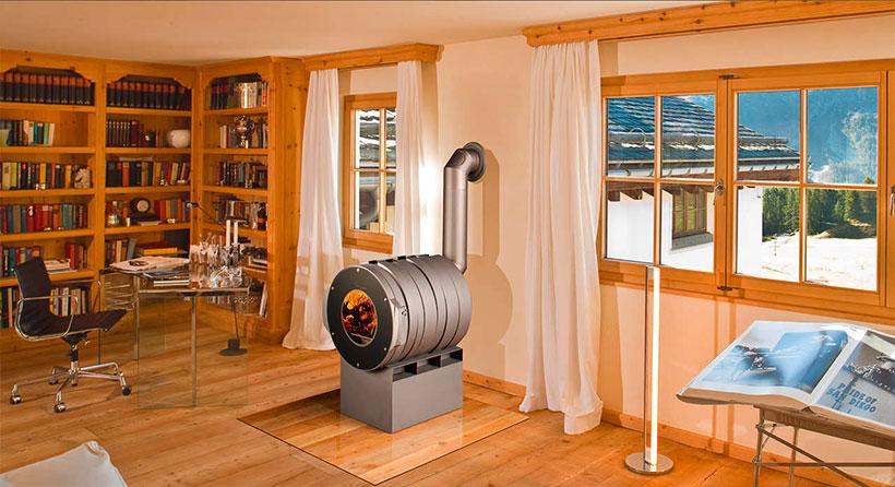 Appareil chauffage bûches - Bullerjan Albi poêle à air chaud