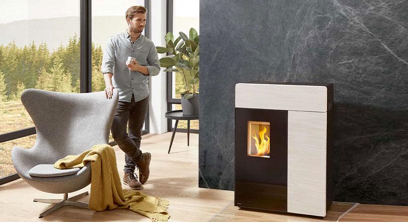 Appartemant chauffage classe design-tendances poêle blanc Albi Revendeur Rika
