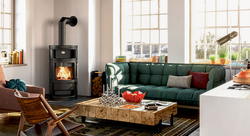 Jolie décoration intérieur avec un meuble chauffant - Marque Hase Modèle Como
