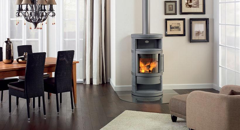 Jolie décoration intérieur avec un meuble chauffant - Marque Hase Poêle robuste