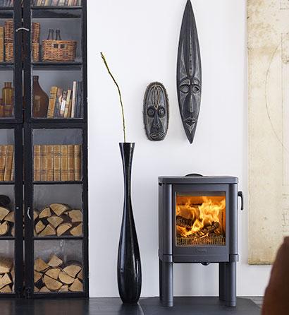 Home décor - poêle mixte - granulés et bois