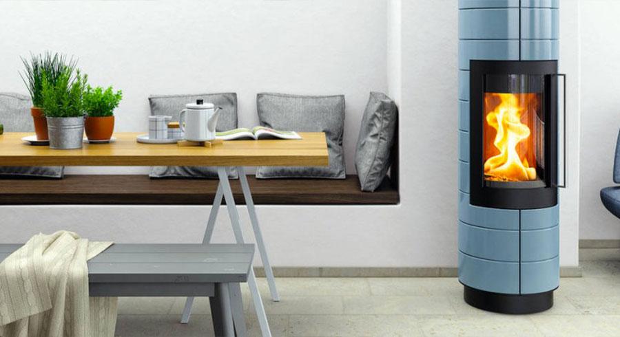 Hase modèle Isboa - Poêle à bois bleu