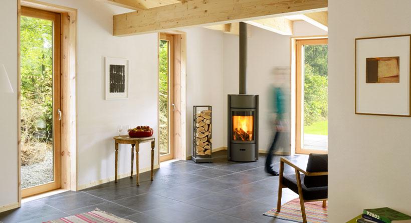 Poêle à bois élegant et design sur Albi Flaam