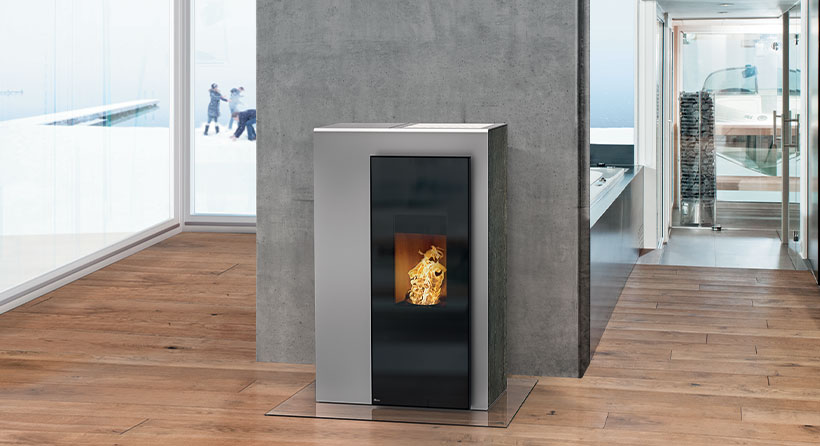 rika modèle Miro Flaam chauffage moderne